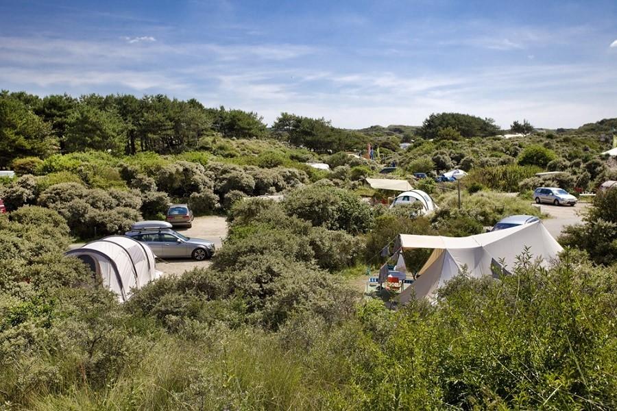 Camping op 200m van het Bloemendaalse strand