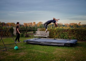 Gasterie Lieve Hemel in Limburg, trampoline Gasterie Lieve Hemel 40plusteens