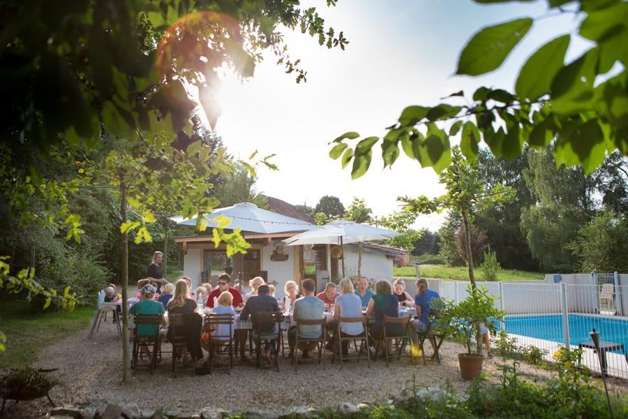 Domaine du Bonheur in de Dordogne, Frankrijk table d'hotes
