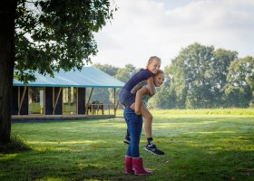 Landrijk De Reesprong in Twente, Nederland kinderen voor glamlodge Landrijk de Reesprong 40plusteens
