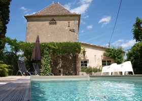 Villa Lafage in de Dordogne, Frankrijk Pigionnier met zwembad Villa Lafage 40plusteens