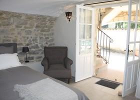 Gite Le Bel Endroit in de Ardeche, Frankrijk slaapkamer Gîte Le Bel Endroit 40plusteens