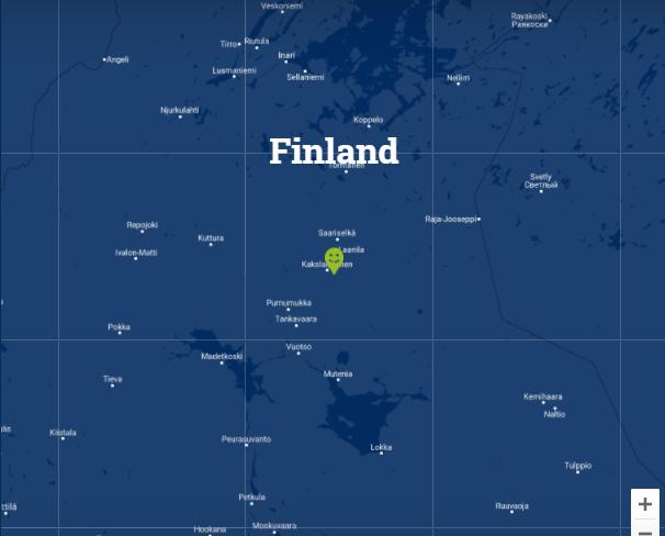 Travelnauts kaartje Fins Lapland Familiereis winters Lapland 40plusteens kaart